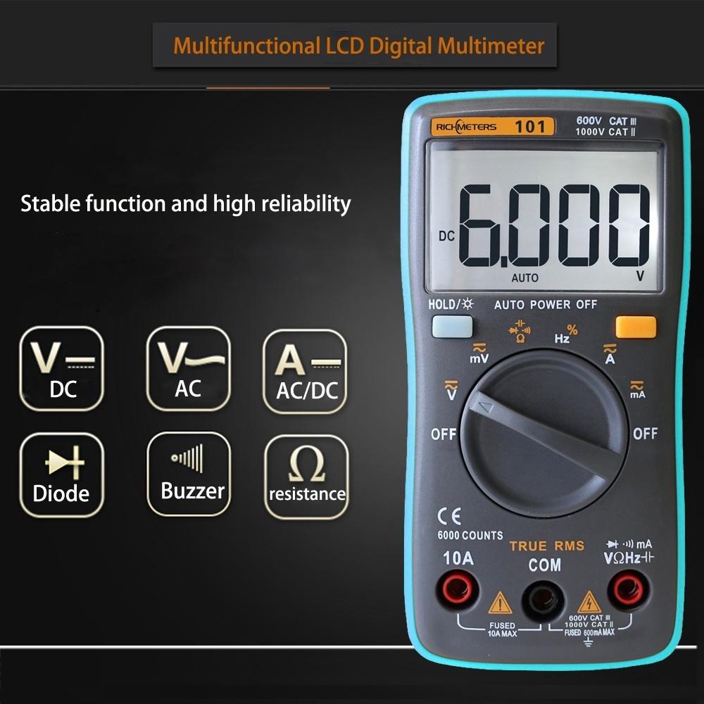Multifungsi 100 Amp Rel Tegangan Ac Digital Saat Ini Tenaga Voltmete Multimeter Kyoritsu 1012 True Rms It Can Be Used To Measure Dc Voltage Current