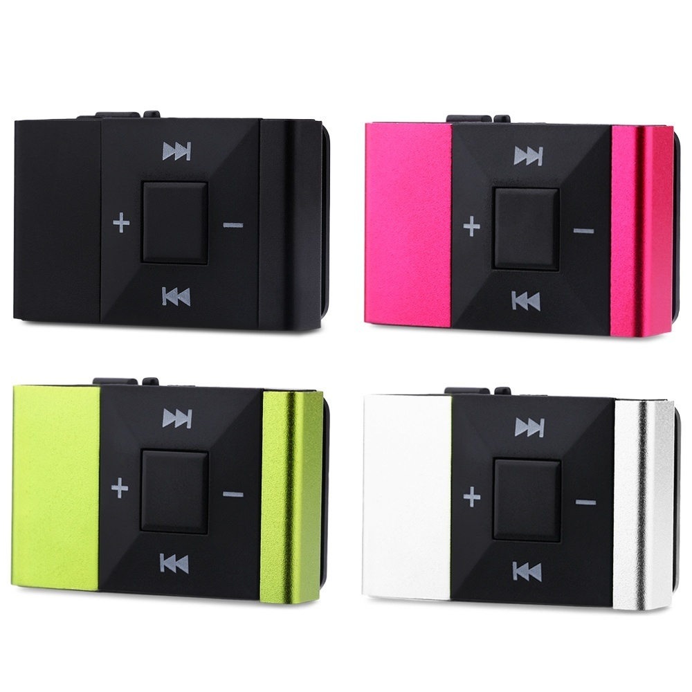 Mirror Clip USB Digital Mp3 Music Player Support 1-8GB SD TF CardWH - intl