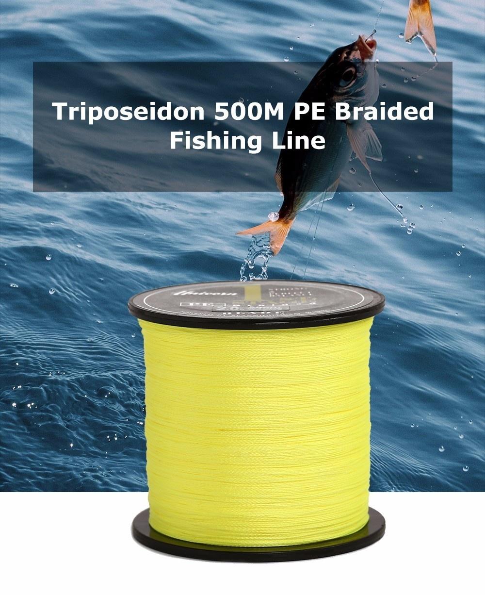 Triposeidon 500M 8 - 60 LB Good Quality PE Braided Fishing Line