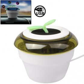 USB Powered Peace Grass Car Air Purifier - White