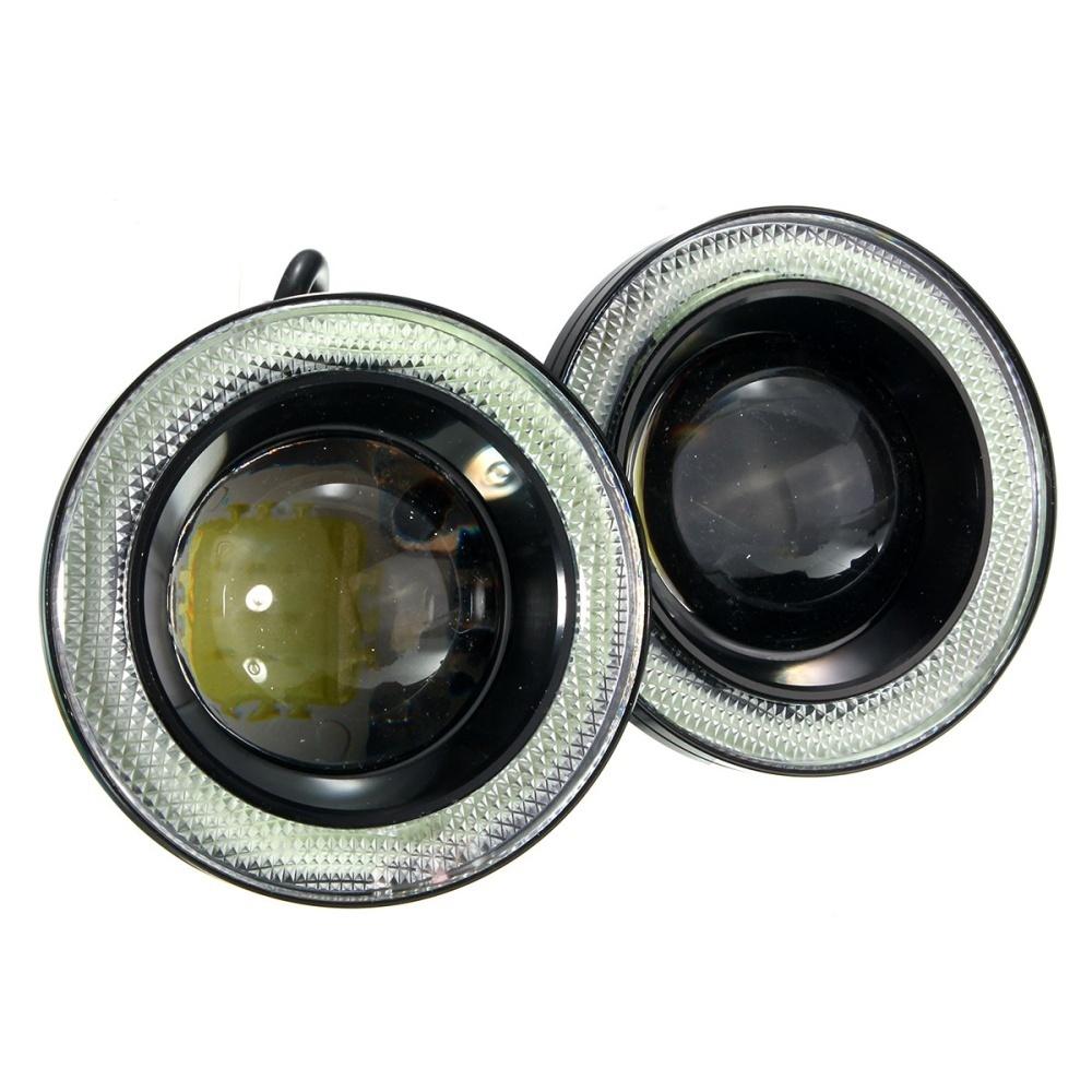 Beau 2 5 30w Car Angel Eye Cob Halo Ring Led Drl Projector Lens Driving Light