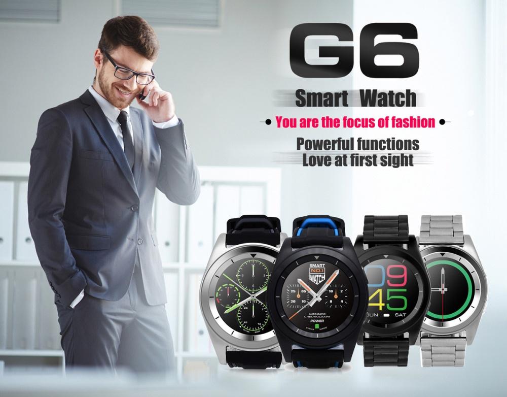 NO.1 G6 Bluetooth 4.0 Heart Rate Monitor PSG Smart Watch