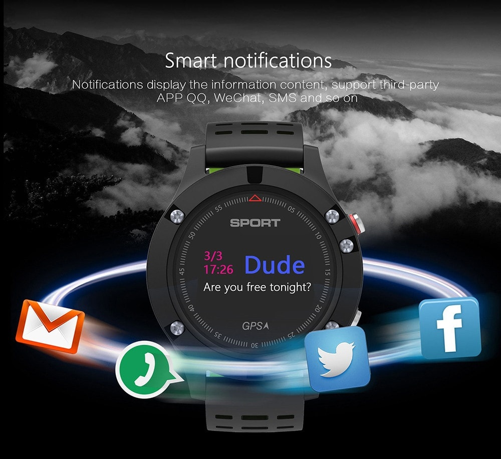 NO.1 F5 Heart Rate Monitor Smart Watch GPS Heart Rate Monitor Wristband