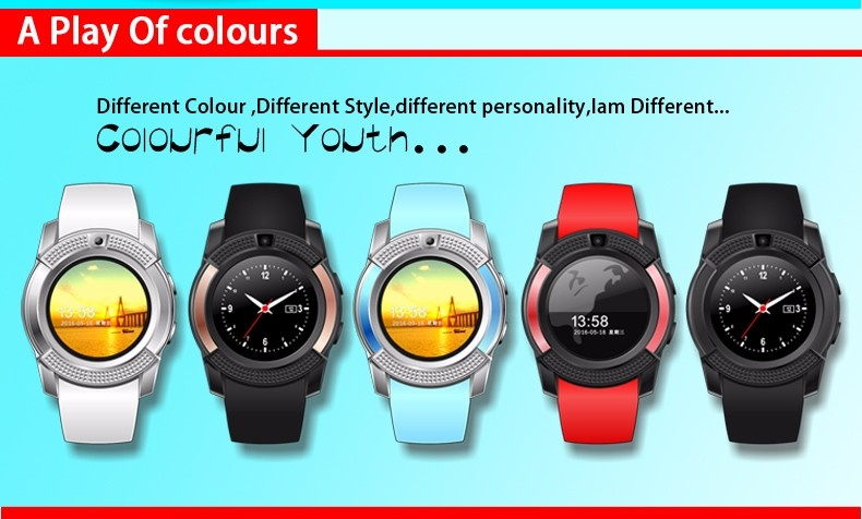 Android smartwatch V8 with bluetooth sim tf card facebook