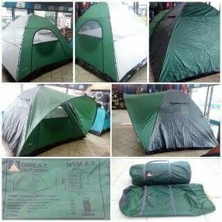 Detail produk dari Great Outdoor Tenda Camping 6 Orang Kap Besar Double Layer Ringkas
