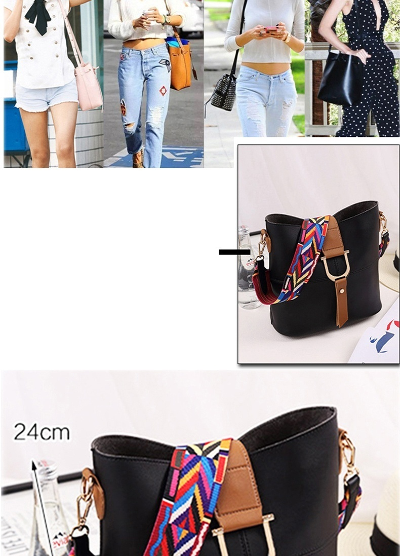 You can carry it by shoulder or cross-body, it's very suits for casual, dating, shopping and other occasions.